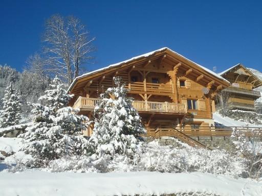 Winter view - Beautiful alpine chalet in the Grand Bornand - Le Grand-Bornand - rentals