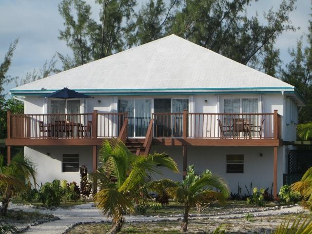 View of Sandy Palms from the beach - BEST BEACH APARTMENT Sleeps 8-11 - Great Exuma - rentals