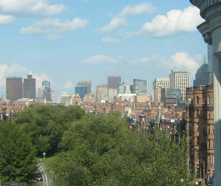 Living room window view of Back Bay, Downtown, Financial District, Beacon Hill, Cambridge & Kenmore - Carlyle Penthouse - Luxury Back Bay 1 Bed + Views - Boston - rentals