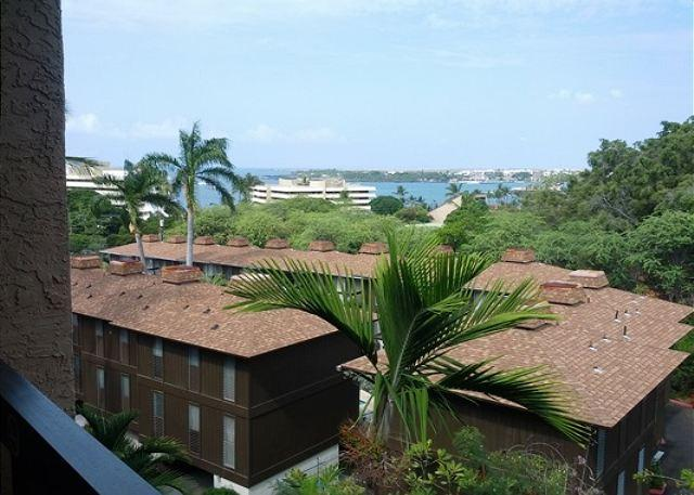 View from Lanai - Well appointed island home with partial ocean view at Kona Pacific B511 - Kailua-Kona - rentals