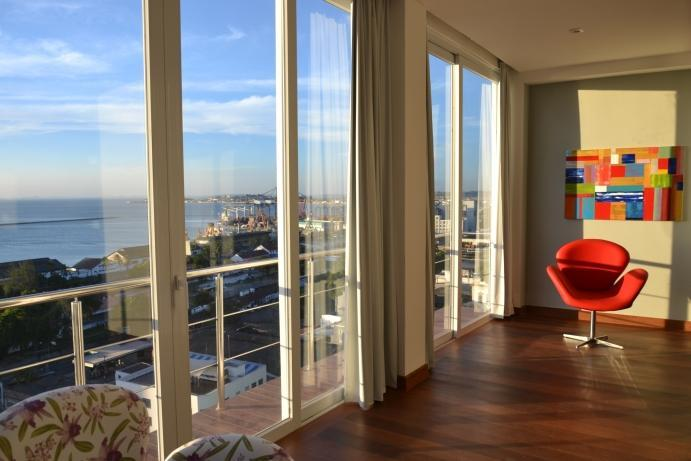 Ocean view from the living room - Luxury apartment,Pelorinho with amazing ocean view - Salvador - rentals