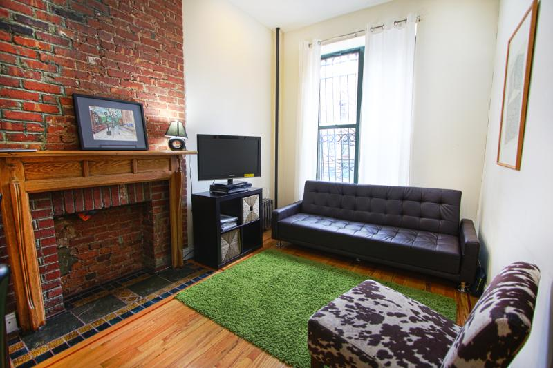 Living Room with Double Sofabed - AMAZING ONE BEDROOM FLAT IN MANHATTAN - New York City - rentals