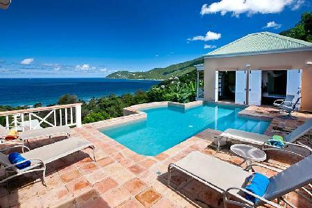 Murray House - Beautifully designed & spacious villa features pool & captivating island views - Image 1 - Long Bay - rentals