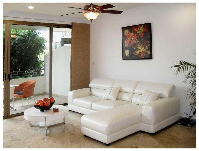 Living room - ON 5th AVE- 2Mins walk  to beach - Private Terrace - Playa del Carmen - rentals