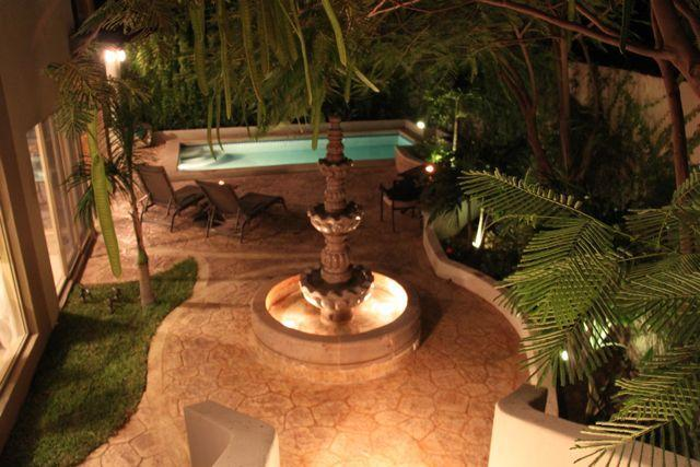 The lovely mexican fountain in the beautiful garden of Casa Esquina - Great home with Fabulous Outdoor Living Spaces - Cabo San Lucas - rentals