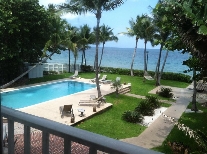 View of Backyard from Master Bedroom - Fort Lauderdale Oceanfront Mansion - w/Htd Pool - Fort Lauderdale - rentals