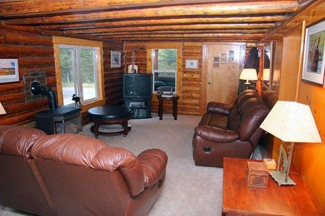 Main Living Room, Direct TV, flatscreen - Vacation Cabin Home New Low Rates - low as $229 - West Yellowstone - rentals