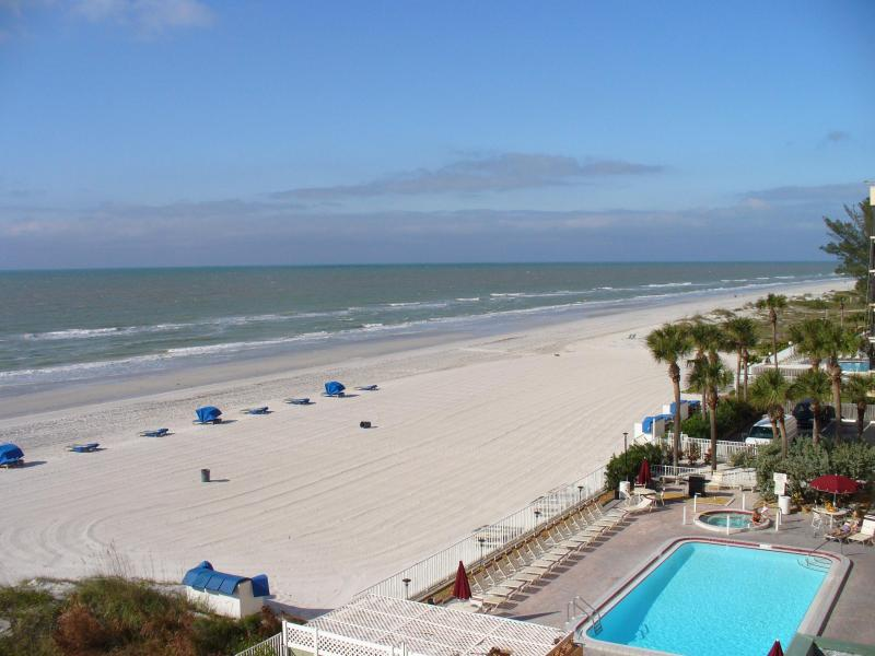 balcony view looking north - #508 SANDCASTLE I /DIRECT GULF VIEW/SLEEPS 6 - Indian Shores - rentals