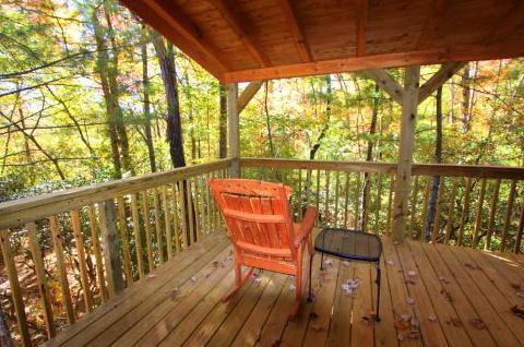 porch off master and den - Laurel Knob-at the top of the ridge! Great deck! - Sapphire - rentals