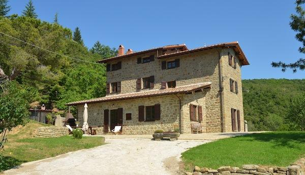 Exterior - Typical house with lovely view and swimmingpool - Cortona - rentals