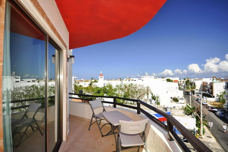 View from Balcony - Charming Penthouse in Downtown - Playa del Carmen - rentals