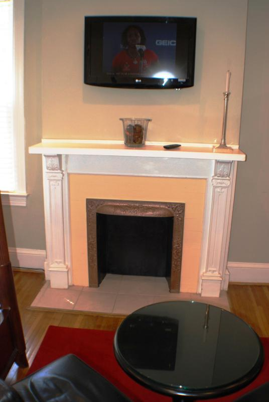 Fireplace Mantel - Immaculate and Affordable Duplex Apartment-Large - Washington DC - rentals