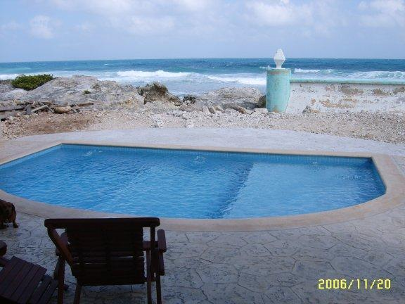 Pool and Ocean - Casa Rosa-Great Waterfront Family Vacation Spot - Isla Mujeres - rentals