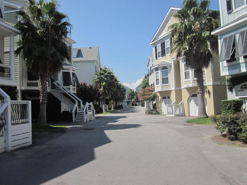 Colorful Charleston-style homes at Water's Edge - 3 bdrm townhome, gorgeous views, walk to town - Folly Beach - rentals