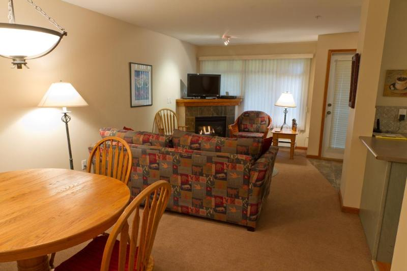 Ground floor unit with spacious living area - Lagoons 91 a 2 bedroom with private hot tub - Whistler - rentals