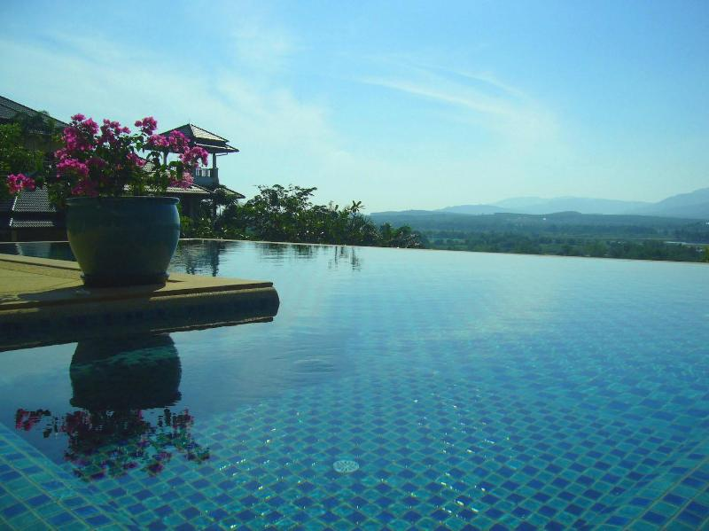 View from infinity-edge swimming pool (17x6m) and pool jacuzzi - 4-6 bedroom pool villa with scenic views at Laguna Phuket - Bang Tao Beach - rentals