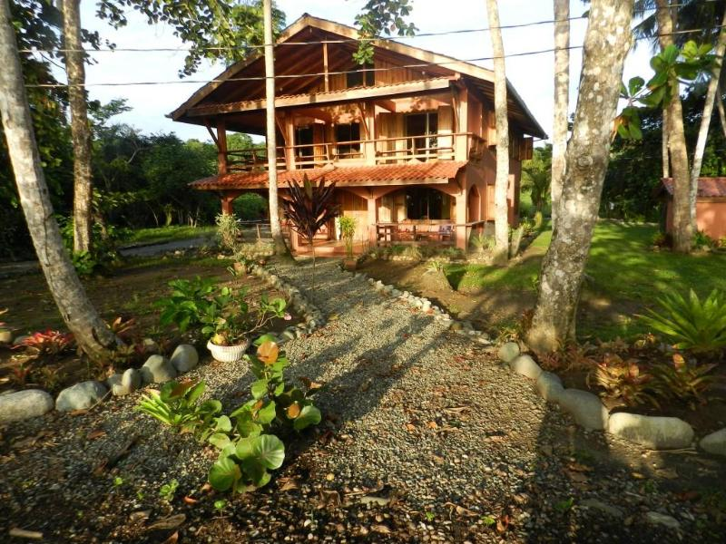 Front of house standing on the beach - 4 Bed, 4 Bath House 50 feet from Caribbean ocean - Puerto Viejo de Talamanca - rentals