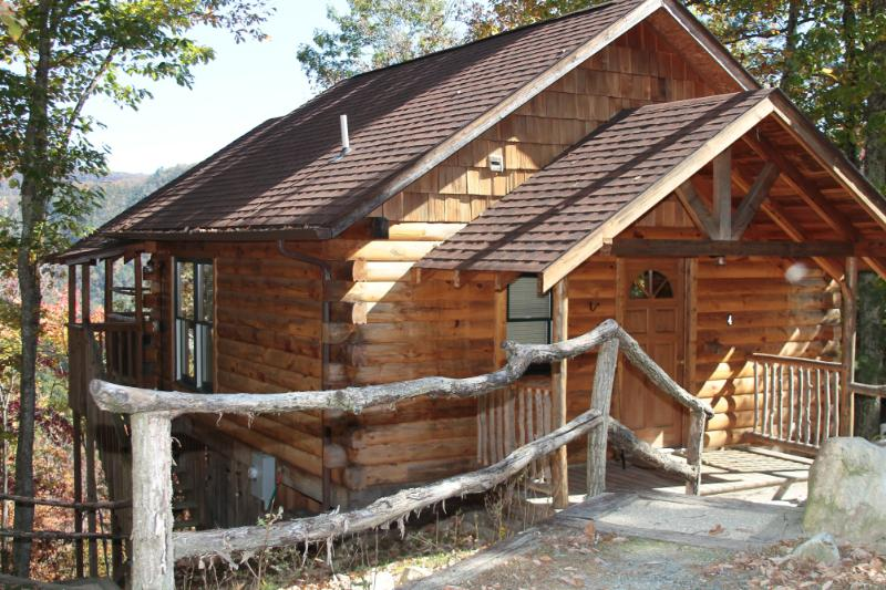 TreeHouse Cabins hand-built with Private Hot Tub - Image 1 - Hot Springs - rentals