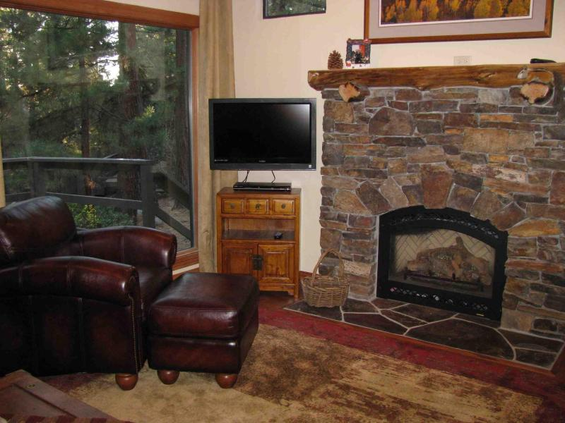 Living Room with gas fireplace - Beautiful Remodeled Condo - Incline Village - rentals