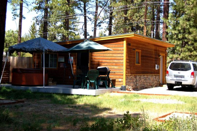 Deck - Heather Lake Cabin for 4 in ideal location - South Lake Tahoe - rentals