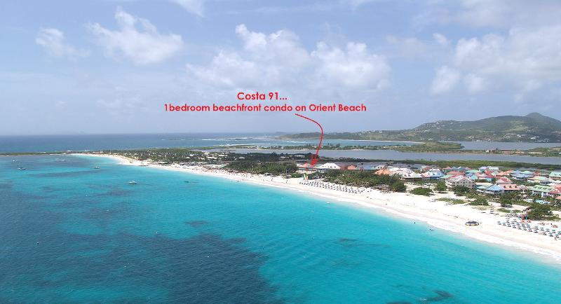 COSTA CARAIBES 91... the best value on Orient beach!!  Charming beachfront condo with high end amenities (close to nudist beach) - Image 1 - Saint Martin-Sint Maarten - rentals