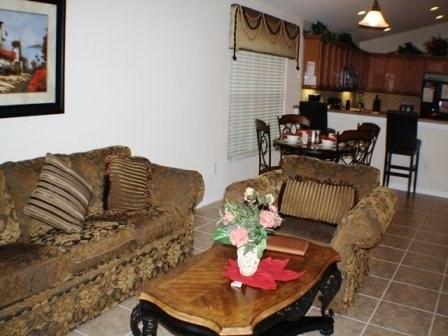 Living Area - WAS4P611OCB 4 BR Pool Home Close to Walt Disney - Orlando - rentals