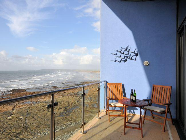 Balcony with seating area and stunning sea views - BLISS - Westward Ho - rentals