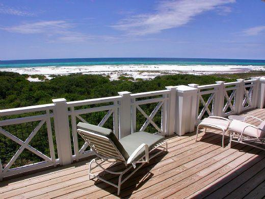Huge balcony, great for dining or entertaining - Direct Beachfront! Choice Spring weeks available! - Rosemary Beach - rentals