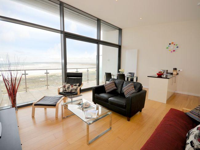 Open-plan lounge/kitchen/diner with uninterrupted sea views - ATHEI - Westward Ho - rentals