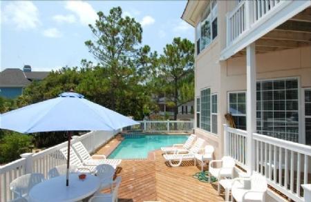 Pool deck - 23 Egret Street Fall-Spring - Hilton Head - rentals