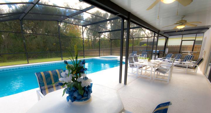 Large south facing pool with conservation view - 6BR-Private SF Pool/Spa,GameRoom,BBQ,WiFi-Disney - Orlando - rentals
