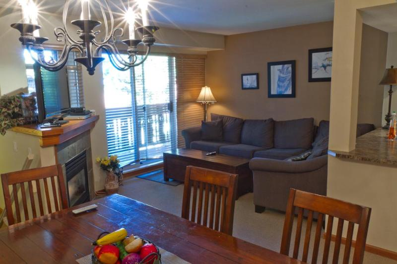 Features large, comfy sectional, gas fireplace, large flat screen TV, deck with BBQ - Sunpath 22 a 3 bdrm, 2 bath condo in Whistler - Whistler - rentals