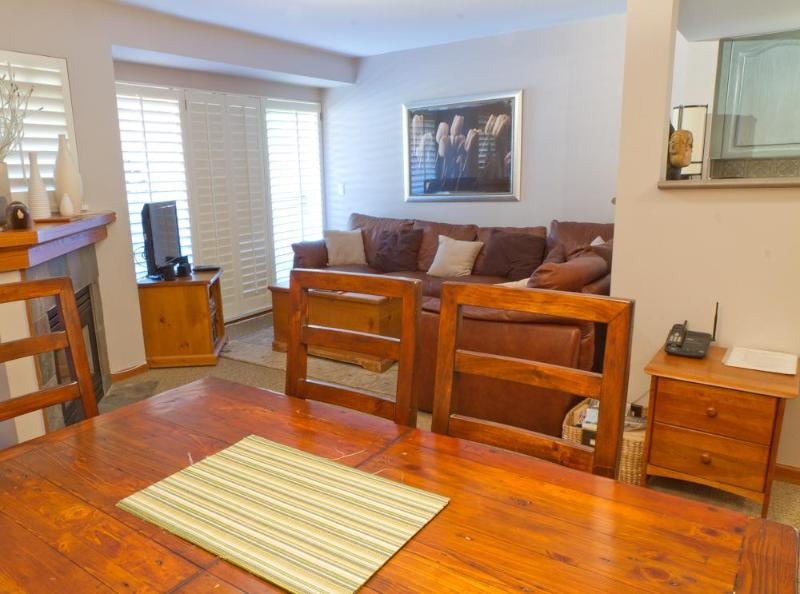 Living area from dining room - Sunpath 38 a 3 bdrm pet-friendly condo in Whistler - Whistler - rentals