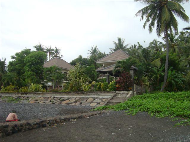 villa from beach side - Luxurious beach  villa Singaraja up to 10 persons - Singaraja - rentals