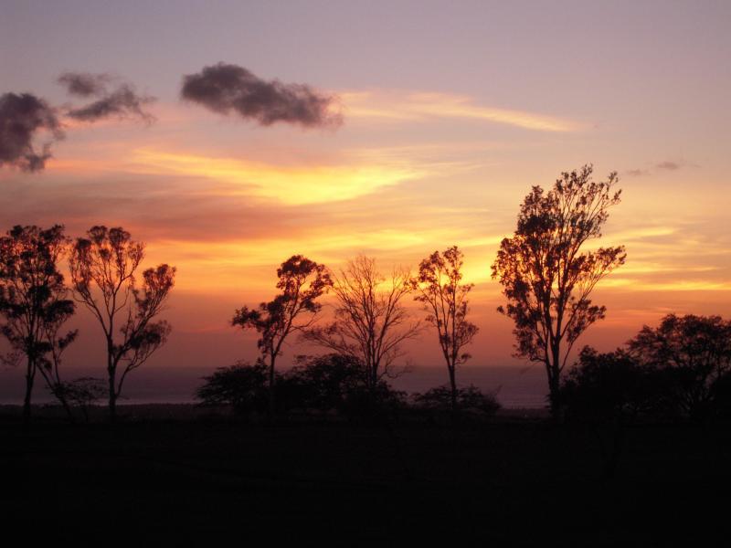 Dinner/evening sunset skies & ocean views from the lanai - HAWAII VACATION GOLF, SUNSET & WATER- BIG ISLAND - Waikoloa - rentals