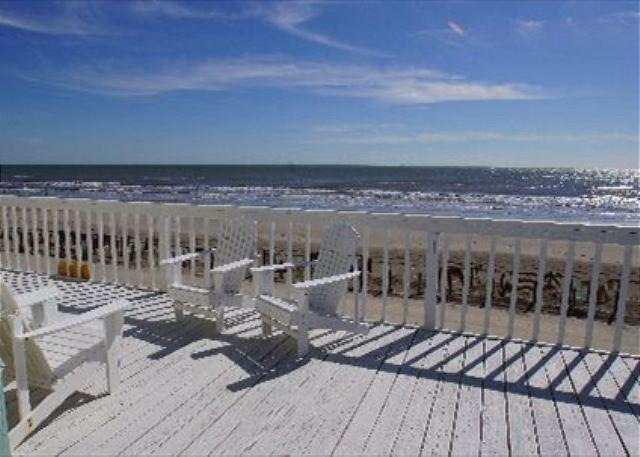 """Brooke Shores"" A beautiful beachfront home with a spacious deck! - Image 1 - Galveston - rentals"