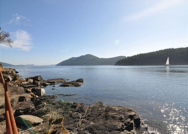 The view from the beach looking southeast. - Deer Point Paradise on Orcas Island - Olga - rentals
