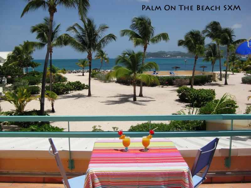 View from the terrace - Delightful studio on the beach of Caribbean sea - Baie Nettle - rentals