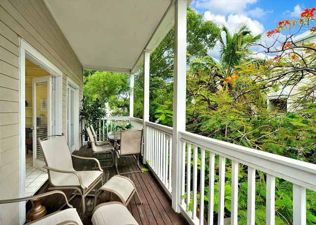 """Private Balcony with seating - """"CASA KEY WEST @ DUVAL SQUARE"""" Extra Large Condo Located On Duval St. - Key West - rentals"""