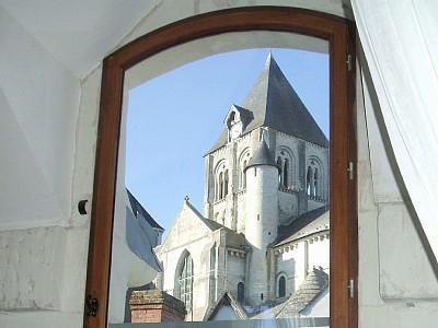 View from Bedroom 1 - La Boulangerie (former bakery) Loire Valley France - Saint-Aignan - rentals