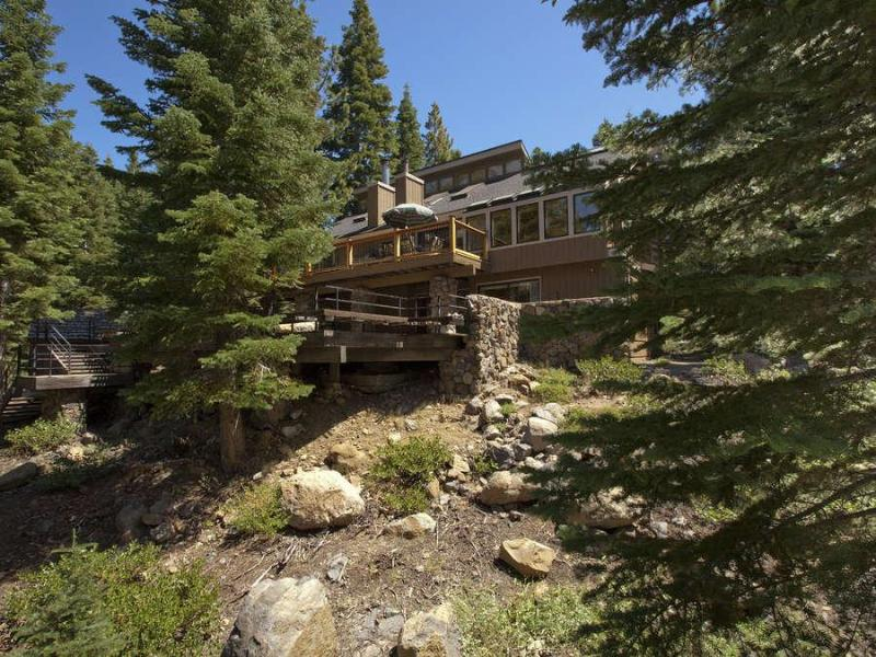 Forested backyard perfect for sledding in the winter and exploring in the summer - Skylight Mountain Home-Kids & Dogs Welcome-Hot Tub - Truckee - rentals