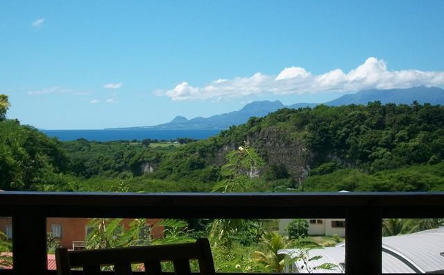La vue de la terrasse - Gite VUE MER et MONTAGNE au Gosier - Le Gosier - rentals