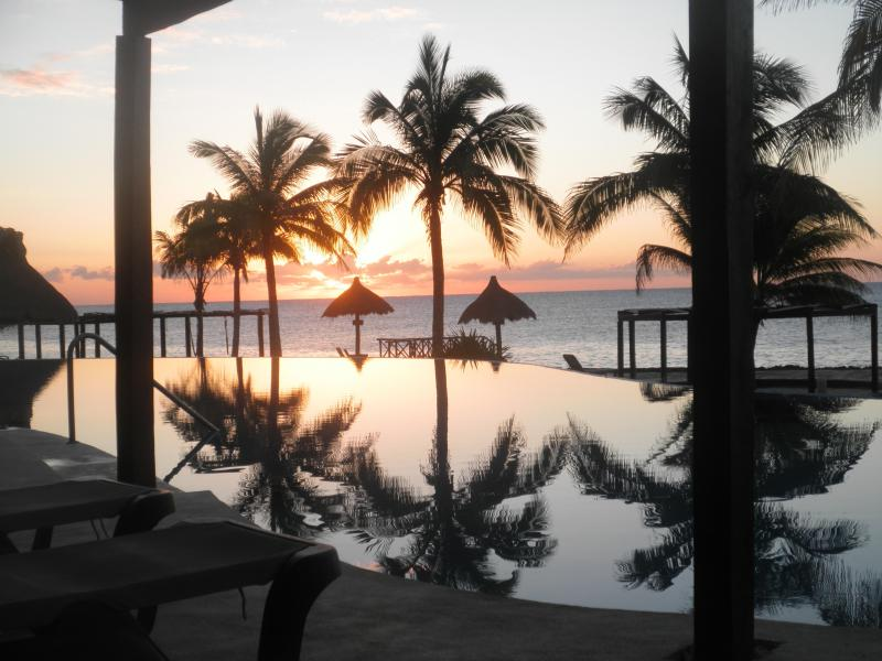 Breathtaking Sunrise in your Tropical Paradise Retreat and Just Two Steps Outside Your Villa - Voted Best Ocean Front Casa On The Riviera Maya - Puerto Aventuras - rentals