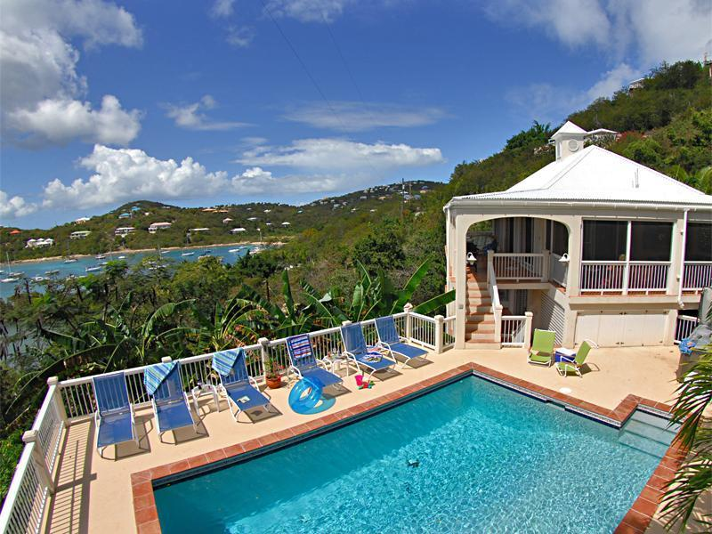 Calypso is a wonderful villa with a totally fabulous pool and setting! - Calypso del Sol (3BR/3BA) Fabulous pool and views! - Cruz Bay - rentals