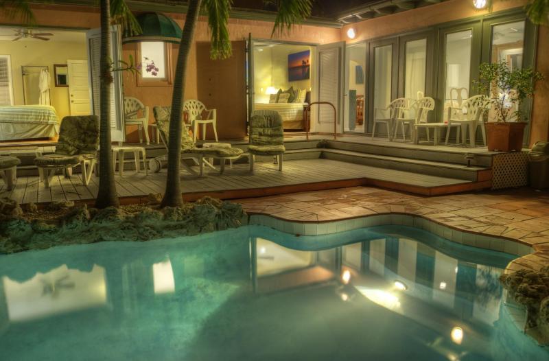 Pool behind the Hemingway Retreat - Suite Dreams in Key West - Key West - rentals