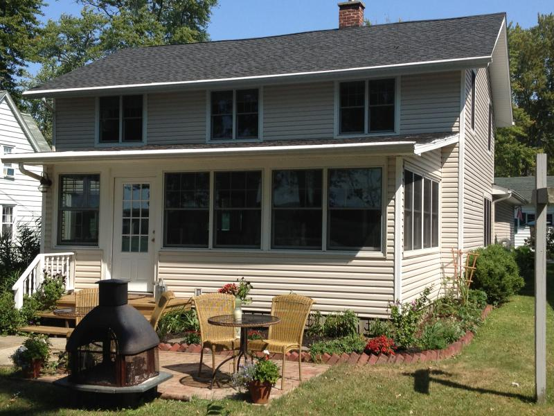 Front Of House overlooking Chautauqua Lake - Lake Front Home with Boat Dock..walk to Bemus! - Bemus Point - rentals