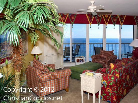 Enjoy beautiful views from the living area - ChristianCondos - where the SON always shines - Destin - rentals