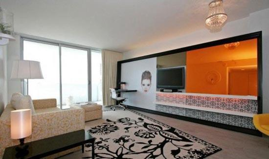 Living room while facing the magnificent Bay! - $249 ONLY !!!!! 2BR Waterview Mondrian South Beach - Miami Beach - rentals