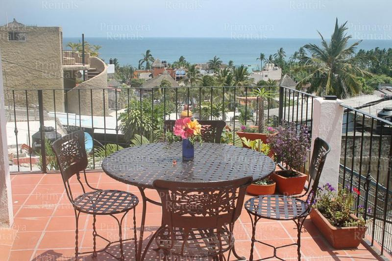 balcony off of master bedroom with amazing ocean views - Casa Leyenda - Sayulita - rentals