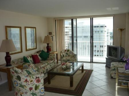 Living Area - FRONT WRAP BALCONY offers panaromic beach views - Marco Island - rentals